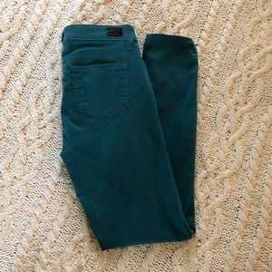 Paige ultra soft aqua green jeans
